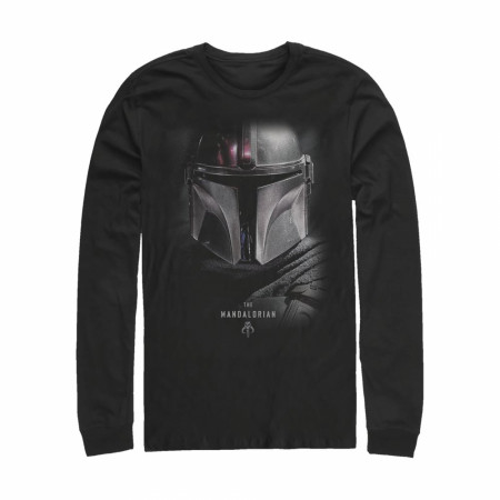 The Mandalorian Bounty Hunter Helmet Long Sleeve Shirt