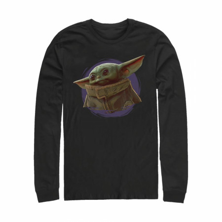 Star Wars The Mandalorian The Child Circle Halo Long Sleeve Shirt