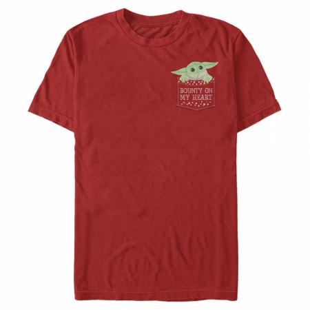 The Mandalorian Grogu Bounty on My Heart Valentine's Day T-Shirt