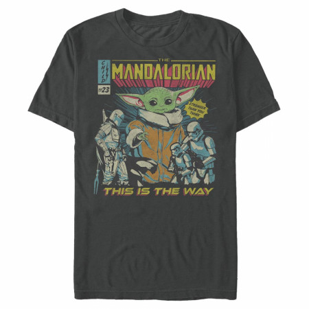 The Mandalorian Grogu Comic Cover T-Shirt