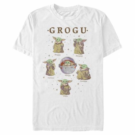 The Mandalorian Faces of Grogu T-Shirt