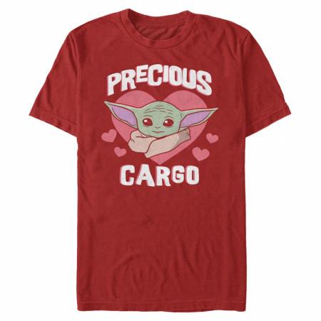 The Mandalorian Precious Cargo Grogu Valentine's Day T-Shirt