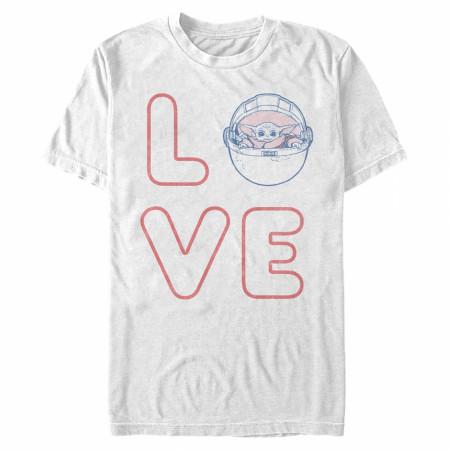 The Mandalorian Grogu Love Valentine's Day T-Shirt