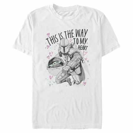 The Mandalorian This Is The Way To My Heart Valentine's Day T-Shirt