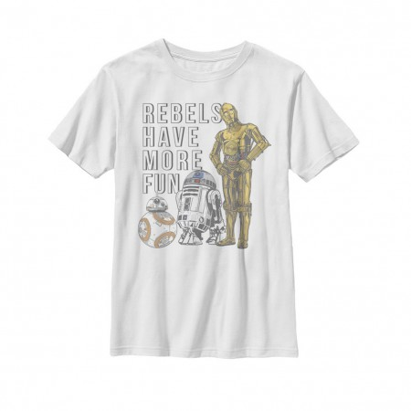 Star Wars The Last Jedi Rebels Have More Fun Youth Tshirt