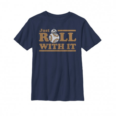 Star Wars The Last Jedi Roll With It Youth Tshirt