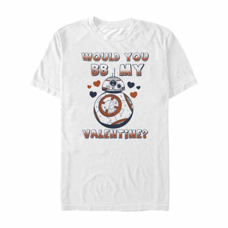 Star Wars Would You BB-8 My Valentine? White T-Shirt