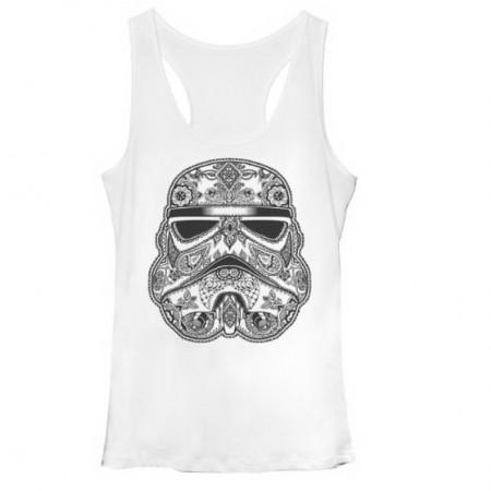 Star Wars Henna Trooper White Juniors Tank Top