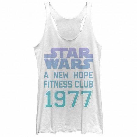Star Wars Hope Fitness White  Juniors Tank Top