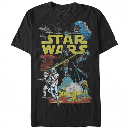 Star Wars The Empire Classic Black T-Shirt