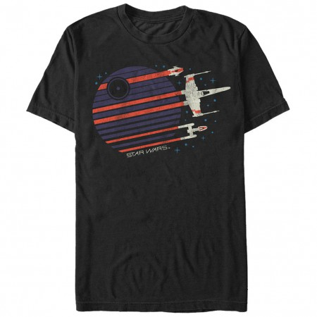 Star Wars Rebel Flyby Black T-Shirt