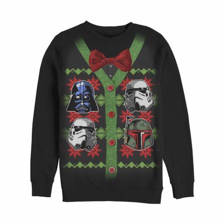 Star Wars Dark Side Heads Cardigan Ugly Sweater Design Sweatshirt