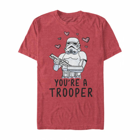 Star Wars You're A Trooper Red T-Shirt