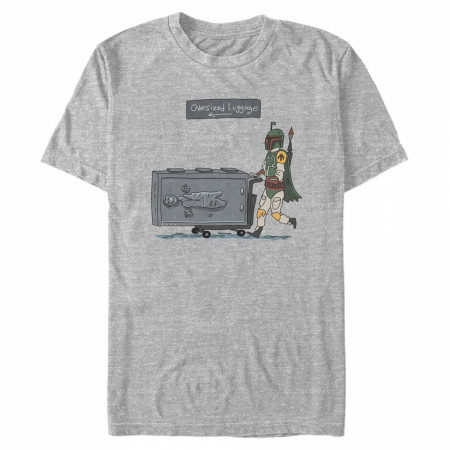 Star Wars Boba Fett Oversized Luggage T-Shirt