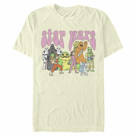 Star Wars Psychedelic Characters T-Shirt
