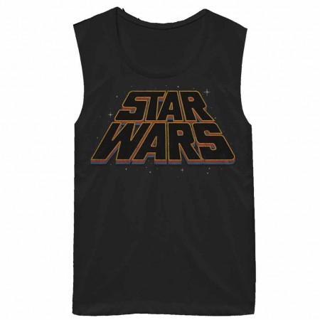 Star Wars Slanty Logos Juniors Tank Top