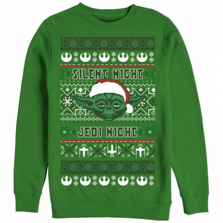 Star Wars Silent Night Yoda Ugly Christmas Sweater Design Sweatshirt