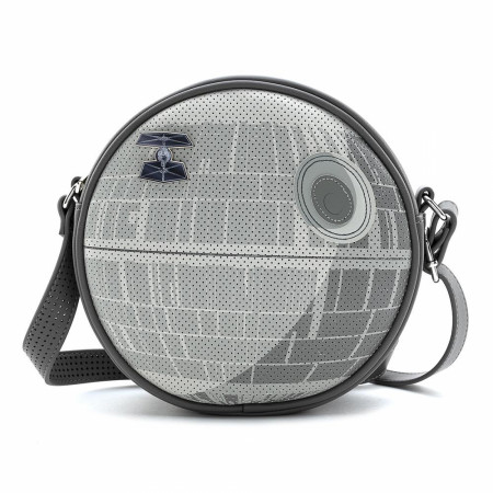 Star Wars Empire 40th Death Star Crossbody Bag with TIE Fighter Pin by Loungefly