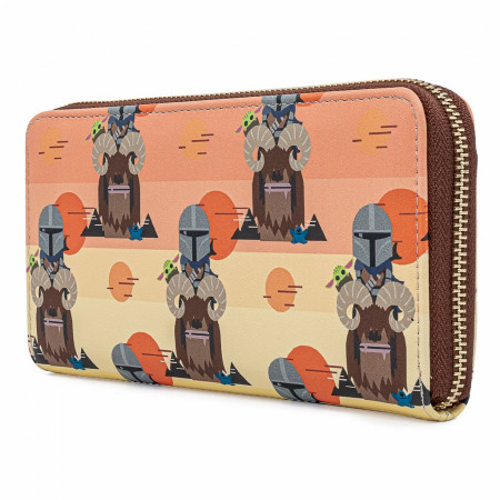Star Wars The Mandalorian and Child Grogu Chibi Wallet by Loungefly