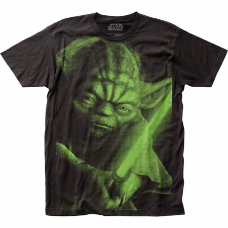 Star Wars Yoda Full Size Subway Print T-Shirt