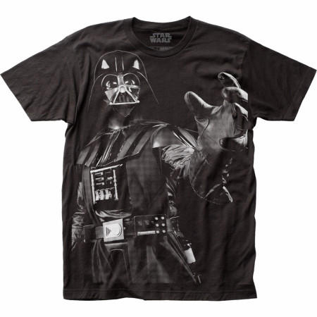Star Wars Darth Vader Choke Large Subway Print T-Shirt