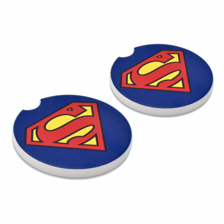 Superman Symbol Absorbent Car Coasters