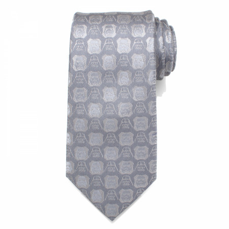 Star Wars Darth Vader and Stormtrooper Grey Men's Silk Tie