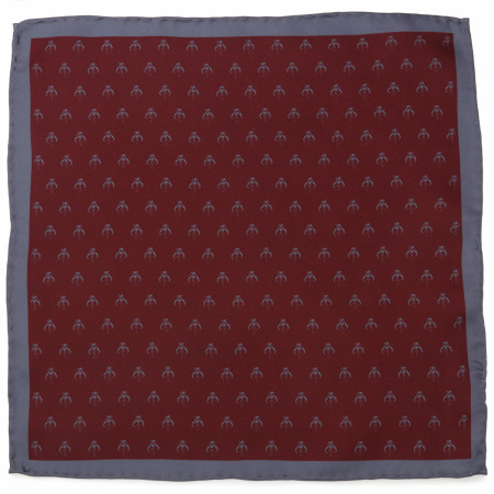 Star Wars The Mandalorian Red Silk Pocket Square