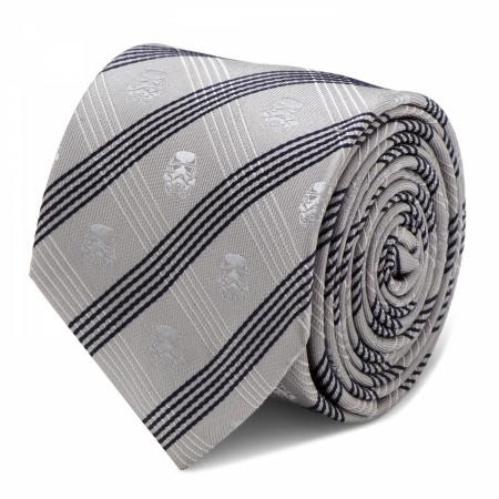 Star Wars Stormtrooper Gray Plaid Silk Tie