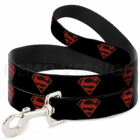 Superman Red and Black Shield 4-Foot Dog Leash