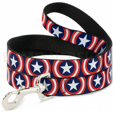 Captain America Logos 4-Foot Dog Leash