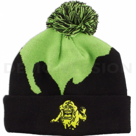 Ghostbusters Slimer Glow in the Dark Pom Beanie