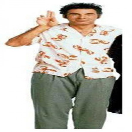 Seinfeld Cosmo Kramer Lobster Cabana Vacation Button Down Shirt