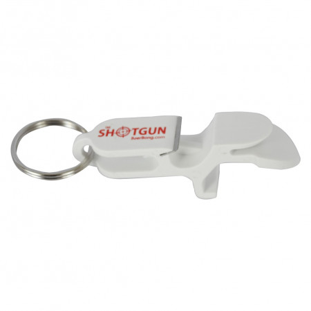Shotgun Bottle Opener White Keychain