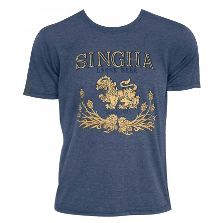 Singha Beer Men's Denim Blue T-Shirt