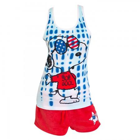Snoopy America Ladies Pajama Set