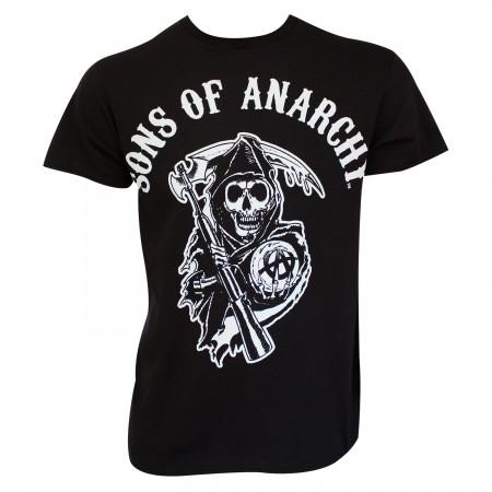 Sons Of Anarchy Men's Black Classic Reaper Logo T-Shirt