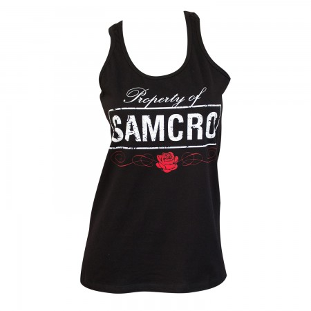 Sons Of Anarchy Women's Black Property Of SAMCRO Tank Top