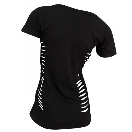 Sons Of Anarchy Side Slash Reaper Roses Women's Black T-Shirt