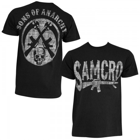 Sons Of Anarchy Men's Black Rifle T-Shirt