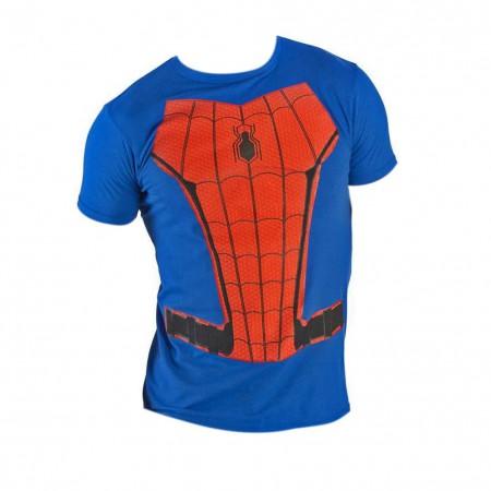 Spider-Man Men's Blue Suit Up Costume T-Shirt