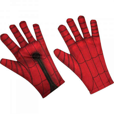 Spider-Man Red Adult Costume Gloves