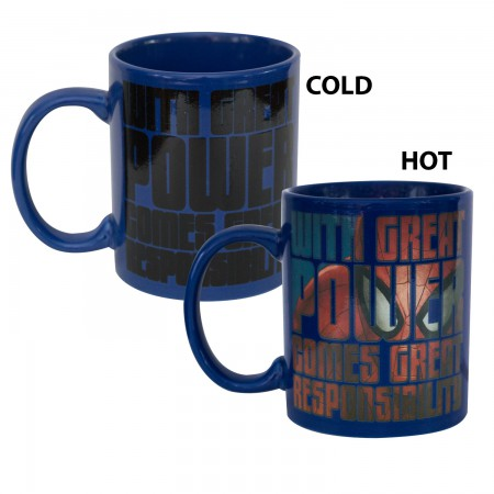 Spider-Man Blue Heat Reveal Coffee Mug