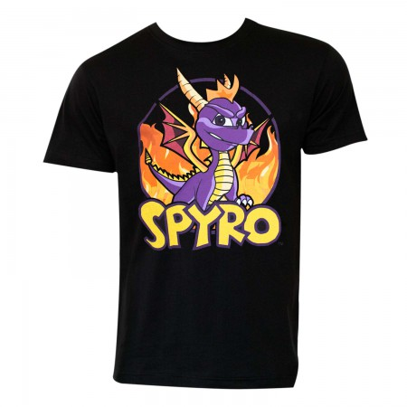 Spyro The Dragon Men's Black T-Shirt