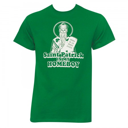 Saint Patrick Is My Homeboy Kelly Graphic Men's Green T-Shirt