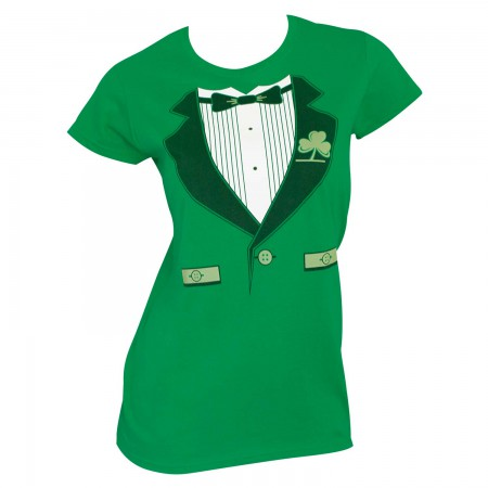 Irish Tux St. Patrick's Day Juniors Graphic TShirt