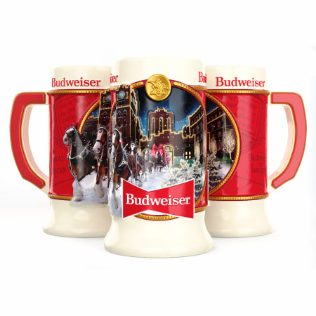 Budweiser 2020 Holiday Stein Ceramic Mug