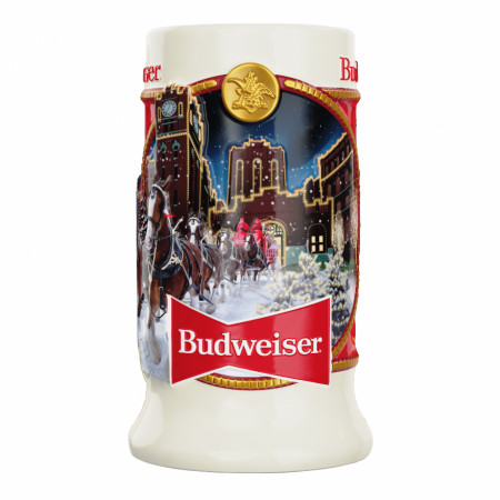Budweiser 2020 Holiday Ceramic Stein Ornament