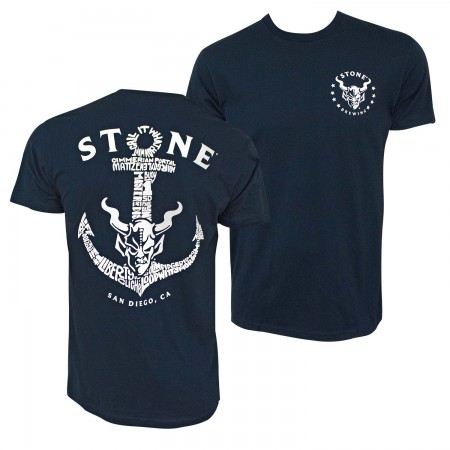 Stone Brewing Navy Blue Liberty Station Anchor T-Shirt
