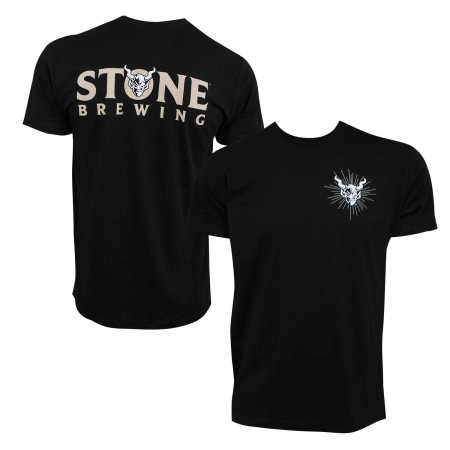 Stone Brewing Devil Logo Black Men's T-Shirt